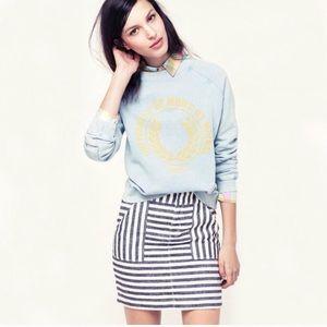 Madewell Striped Mini Skirt Size 4